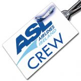 ASL AIRLINES IRELAND 737 Crew Tag